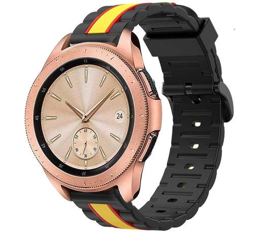 Strap-it® Strap-it® Samsung Galaxy Watch  41mm / 42mm Special Edition band (zwart/geel)