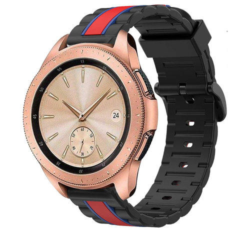 Strap-it® Strap-it® Samsung Galaxy Watch  41mm / 42mm Special Edition band (zwart/rood)
