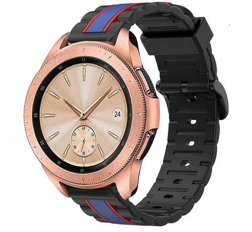Strap-it® Strap-it® Samsung Galaxy Watch  41mm / 42mm Special Edition band (zwart/blauw)