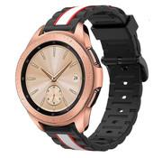 Strap-it® Samsung Galaxy Watch  41mm / 42mm Special Edition band (zwart/wit)