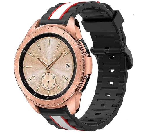 Strap-it® Strap-it® Samsung Galaxy Watch  41mm / 42mm Special Edition band (zwart/wit)