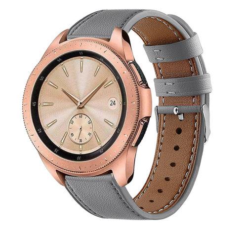 Strap-it® Strap-it® Samsung Galaxy Watch 41mm/42mm bandje leer (grijs)