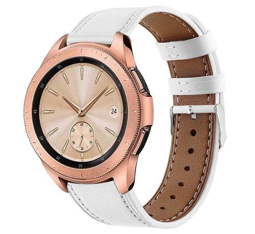 Strap-it® Strap-it® Samsung Galaxy Watch 41mm/42mm bandje leer (wit)