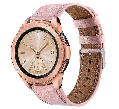 Strap-it® Strap-it® Samsung Galaxy Watch 41mm/42mm bandje leer (roze)
