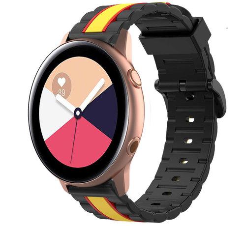 Strap-it® Strap-it® Samsung Galaxy Watch Active Special Edition band (zwart/geel)