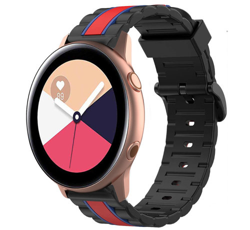 Strap-it® Strap-it® Samsung Galaxy Watch Active Special Edition band (zwart/rood)