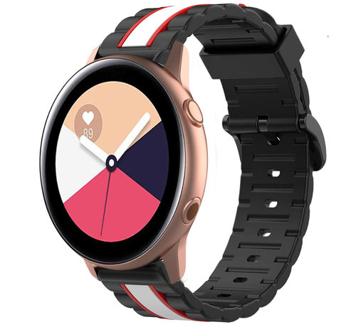Strap-it® Strap-it® Samsung Galaxy Watch Active Special Edition band (zwart/wit)