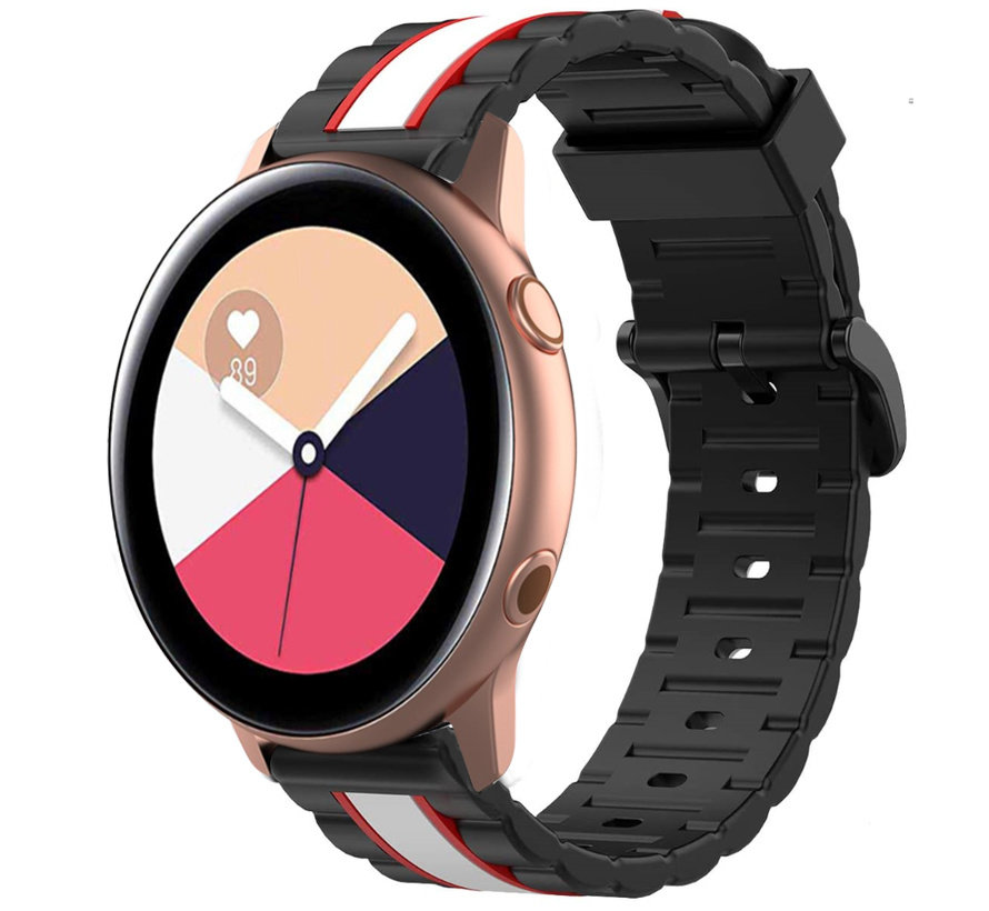 Strap-it® Samsung Galaxy Watch Active Special Edition band (zwart/wit)