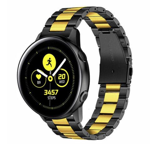 Strap-it® Strap-it® Samsung Galaxy Watch Active stalen band (zwart/goud)