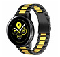 Strap-it® Samsung Galaxy Watch Active stalen band (zwart/goud)
