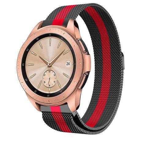 Strap-it® Strap-it® Samsung Galaxy Watch Milanese band 41mm / 42mm (zwart/rood)