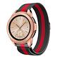 Strap-it® Samsung Galaxy Watch Milanese band 41mm / 42mm (zwart/rood)
