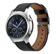Strap-it® Samsung Gear S3 bandje leer (strak-zwart)