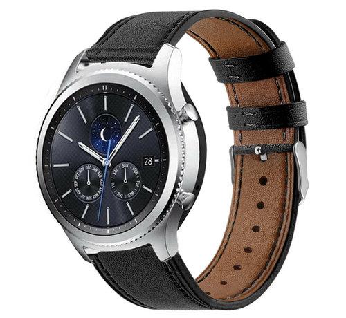 Strap-it® Strap-it® Samsung Gear S3 bandje leer (strak-zwart)