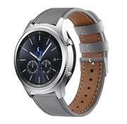 Strap-it® Samsung Gear S3 bandje leer (grijs)