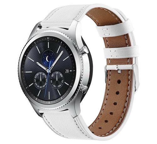 Strap-it® Strap-it® Samsung Gear S3 bandje leer (wit)