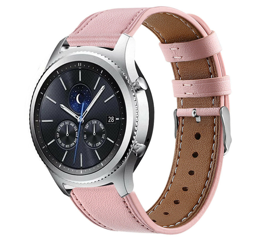 Strap-it® Samsung Gear S3 bandje leer (roze)