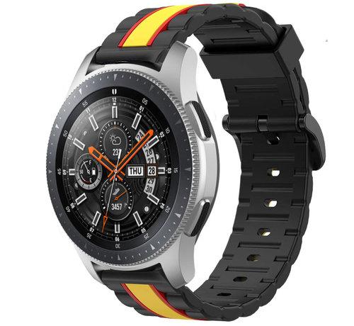 Strap-it® Strap-it® Samsung Galaxy Watch 46mm Special Edition band (zwart/geel)