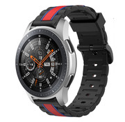 Strap-it® Samsung Galaxy Watch 46mm  Special Edition band (zwart/rood)