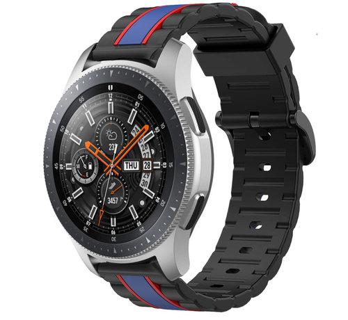 Strap-it® Strap-it® Samsung Galaxy Watch 46mm Special Edition band (zwart/blauw)