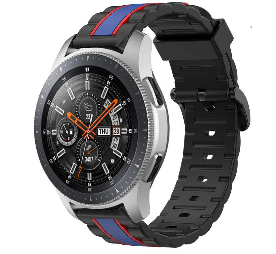 Strap-it® Samsung Galaxy Watch 46mm Special Edition band (zwart/blauw)