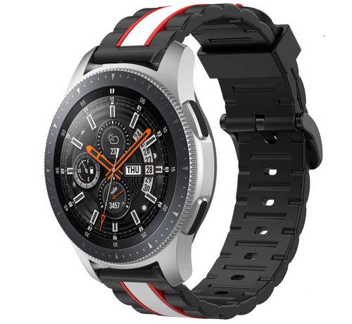 Strap-it® Strap-it® Samsung Galaxy Watch 46mm Special Edition band (zwart/wit)