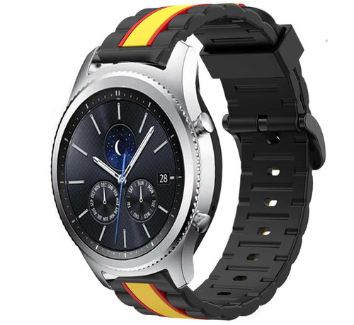 Strap-it® Strap-it® Samsung Gear S3 Special Edition band (zwart/geel)