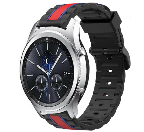 Strap-it® Strap-it® Samsung Gear S3 Special Edition band (zwart/rood)