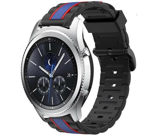 Strap-it® Strap-it® Samsung Gear S3 Special Edition band (zwart/blauw)