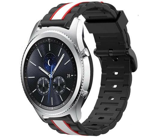 Strap-it® Strap-it® Samsung Gear S3 Special Edition band (zwart/wit)