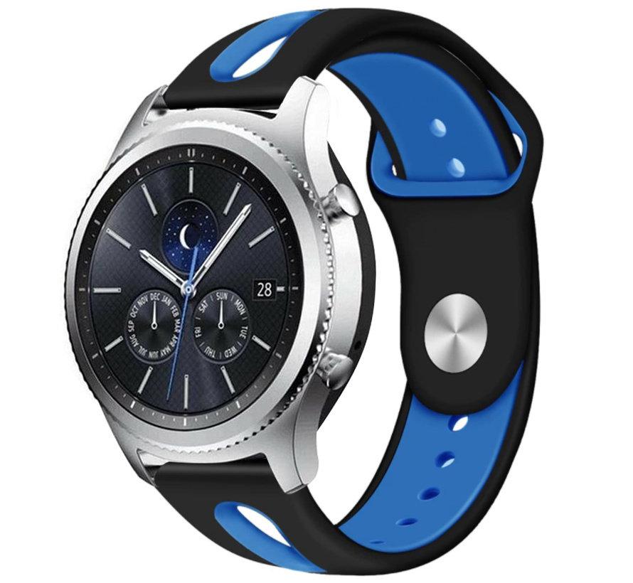 Strap-it® Samsung Gear S3 duo sport band (zwart/blauw)