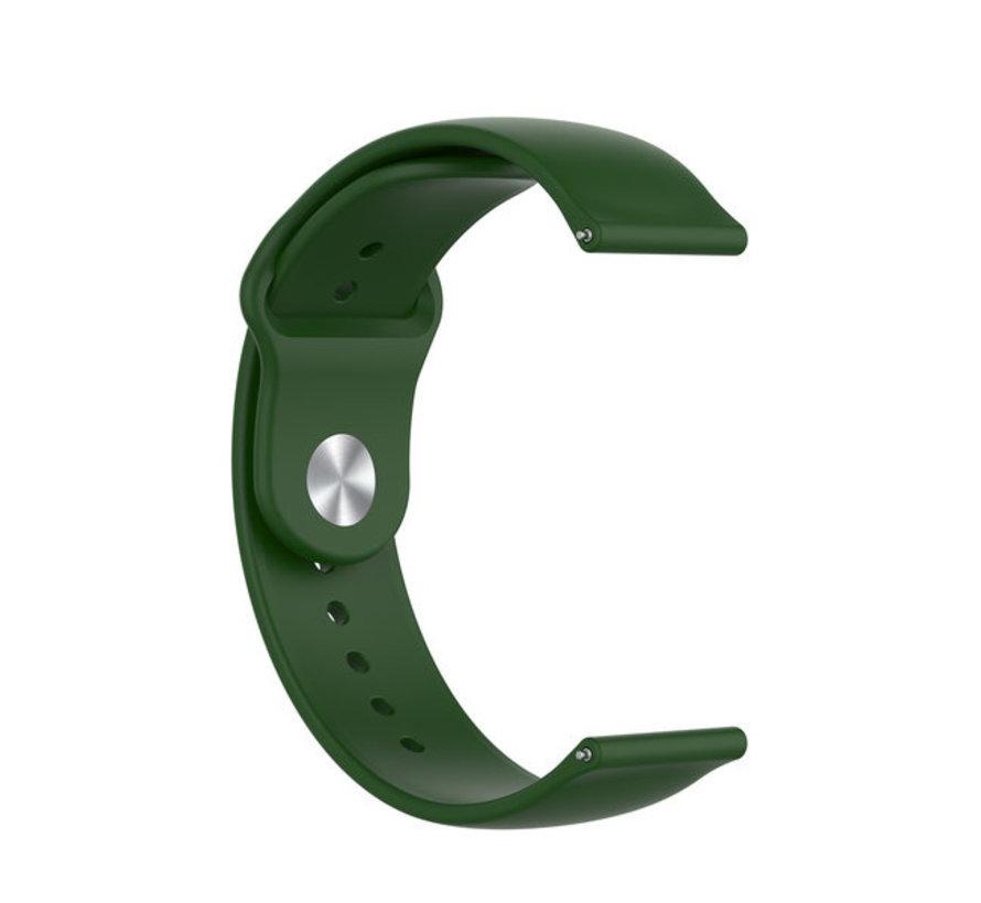 Strap-it® Garmin Vivoactive 4 sport band - 45mm - legergroen