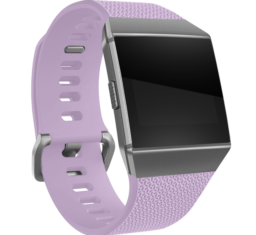 Strap-it® Fitbit Ionic siliconen bandje (lichtpaars)