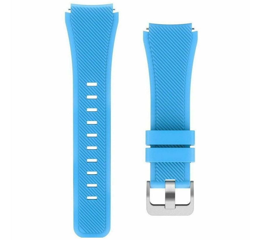 Strap-it® Samsung Galaxy Watch 3 45mm siliconen bandje (lichtblauw)