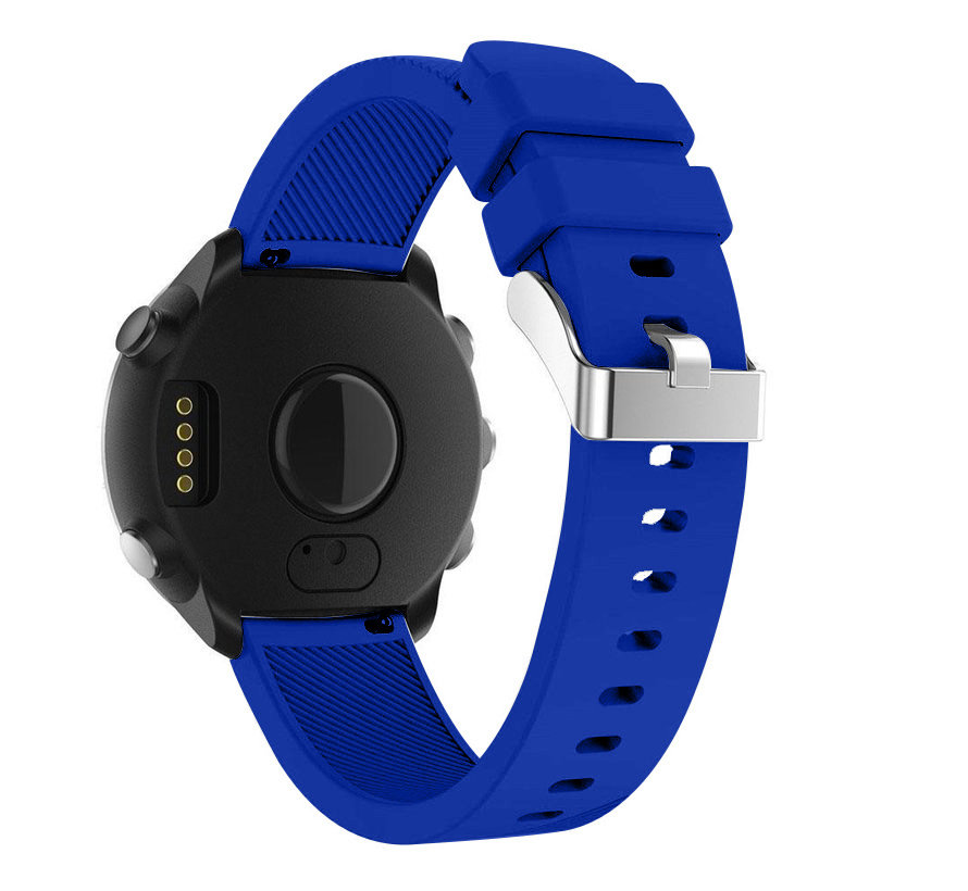 Strap-it® Garmin Vivoactive 4 silicone band - 45mm - blauw