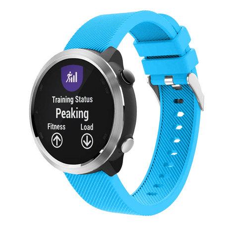 Strap-it® Strap-it® Garmin Vivoactive 4 silicone band - 45mm - lichtblauw