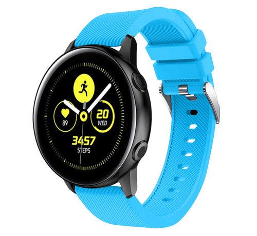 Strap-it® Strap-it® Samsung Galaxy Watch Active silicone band (lichtblauw)