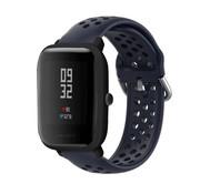 Strap-it® Xiaomi Amazfit Bip siliconen bandje met gaatjes (donkerblauw)