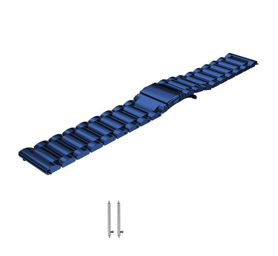 Strap-it® Samsung Galaxy Watch 3 stalen band 41mm (blauw)