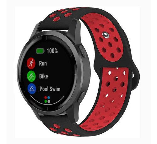 Strap-it® Strap-it® Garmin Vivoactive 4 sport band - 45mm - zwart/rood