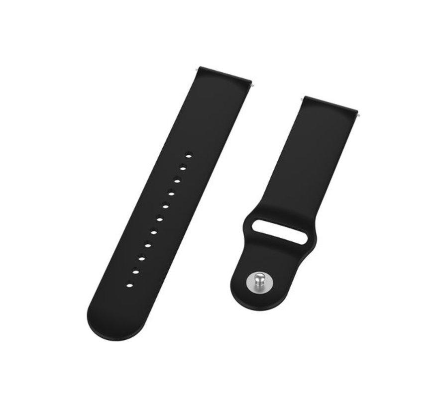 Strap-it® Samsung Galaxy Watch 3 sport bandje 41mm (zwart)