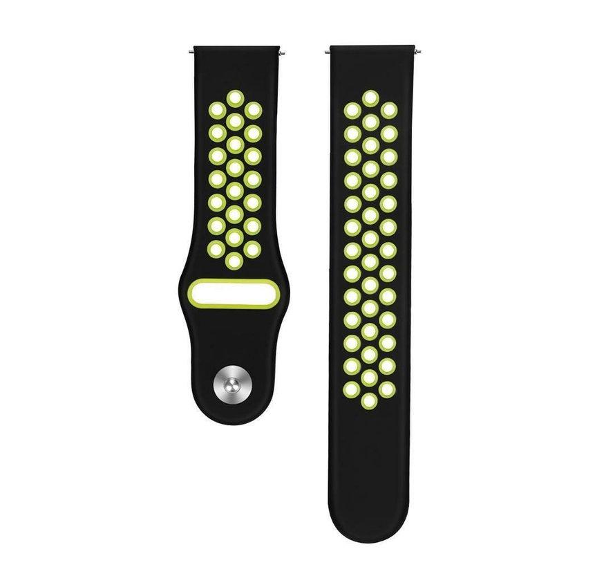 Strap-it® Samsung Galaxy Watch 3 sport band 41mm (zwart/geel)