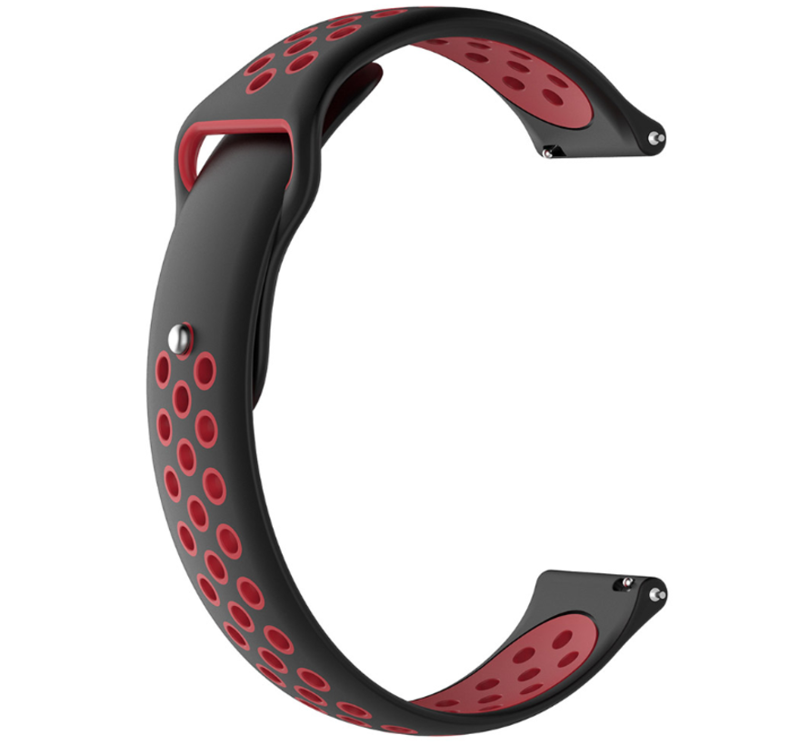 Strap-it® Samsung Galaxy Watch 3 sport band 41mm (zwart/rood)