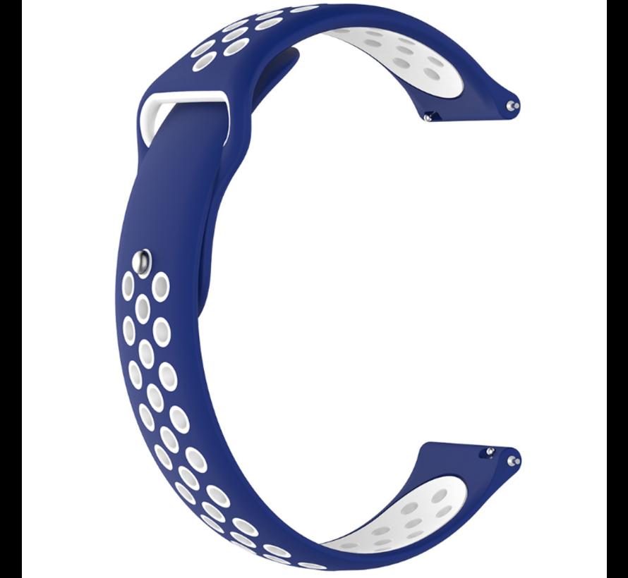 Strap-it® Samsung Galaxy Watch 3 sport band 41mm (blauw/wit)