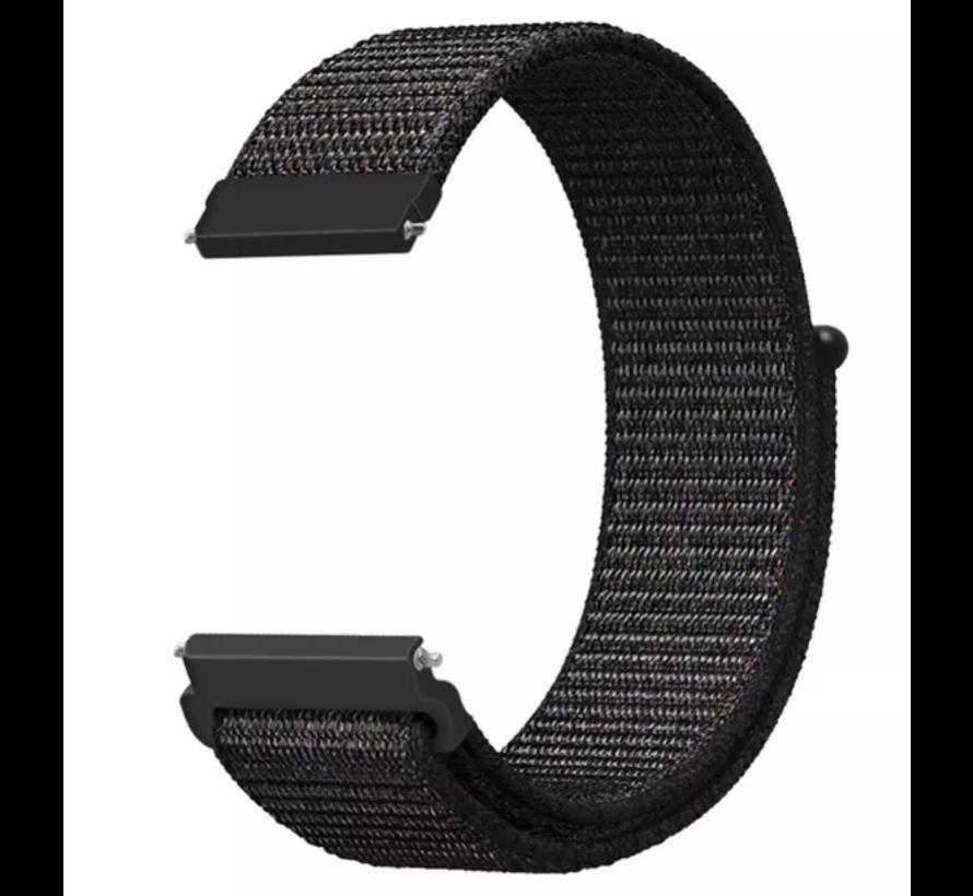 Strap-it® Samsung Galaxy Watch 3 - 41mm nylon bandje (zwart)