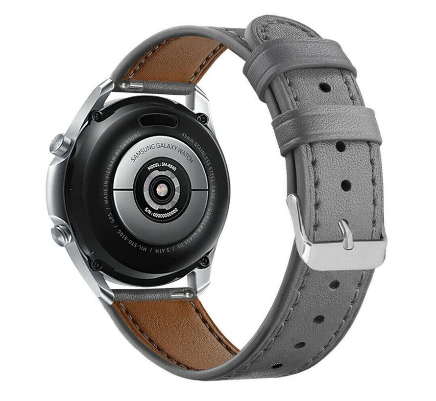 Strap-it® Samsung Galaxy Watch 3 bandje leer 41mm (grijs)