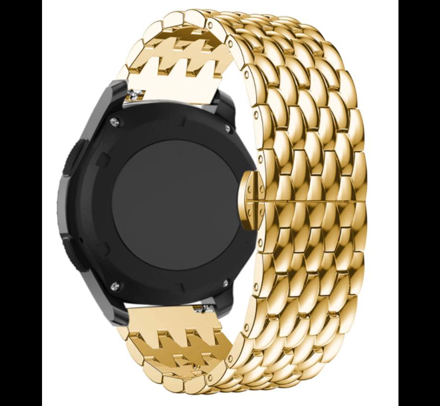 Strap-it® Samsung Galaxy Watch 3 - 41mm stalen draak band (goud)
