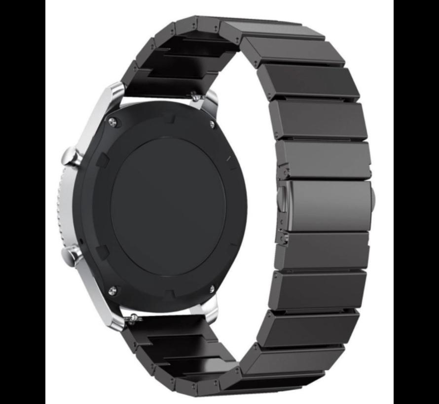 Strap-it®Samsung Galaxy Watch 3 - 41mm metalen bandje (zwart)