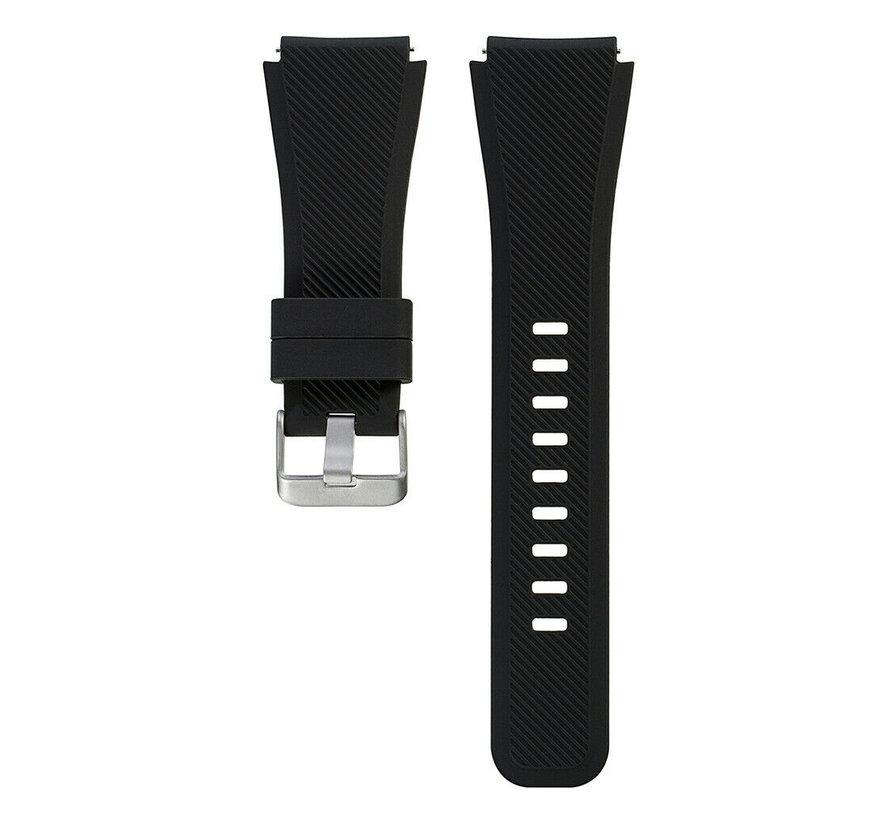 Strap-it® 22mm horlogeband siliconen - Quick release watch strap - zwart