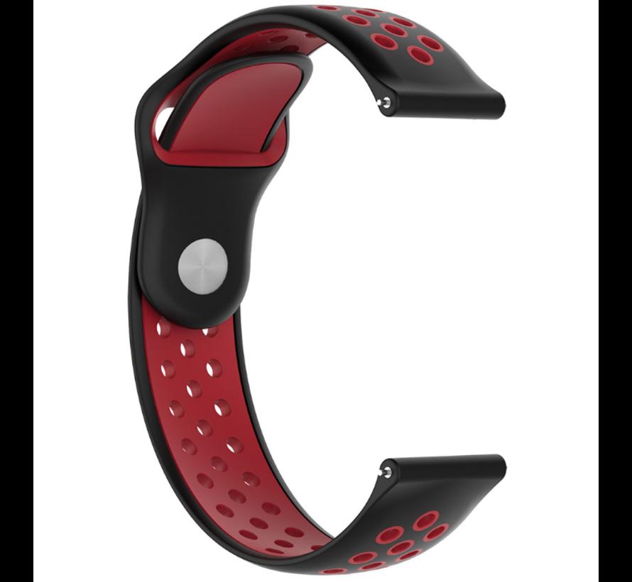 Strap-it® Xiaomi Amazfit GTS 2 / 2e / 2 Mini sport bandje - bandbreedte 20mm - zwart/rood